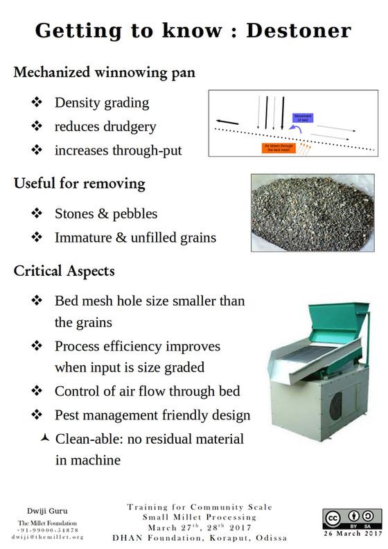 Getting to know : Destoner or Density Grader
