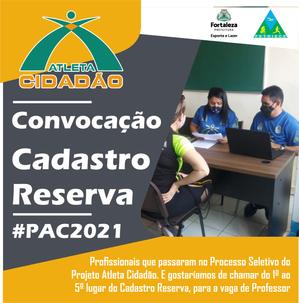 Convocação do Cadastro Reserva - Projeto Atleta Cidadão 2021