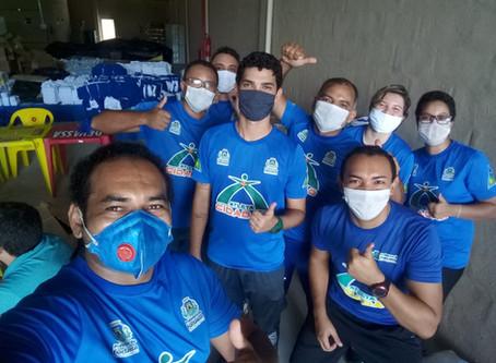 Distribuição de tecidos para a confecção de máscaras