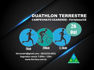 CAMPEONATO CEARENSE DE DUATHLON TERRESTRE - ETAPA ÚNICA - 26/10/2019