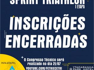 INSCRIÇÕES ENCERRADAS!!! - Campeonato Cearense de Sprint Triathlon 2021.