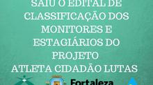 Edital de classificação dos monitores e estagiários selecionados para participar do PAC LUTAS 2021