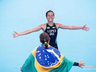 Vittória Lopes, leva Ouro Prata e Bronze no Triatlon - China
