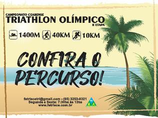 CONFIRA O PERCURSO DO CAMPEONATO CEARENSE DE TRIATHLON OLÍMPICO - II ETAPA (VÁLIDO PELO RANKING).