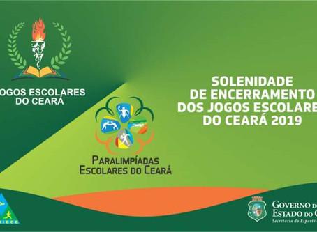 Cerimônia de encerramento dos Jogos Escolares do Ceará será na sexta-feira (11)