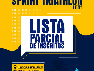LISTA PARCIAL DE INSCRITOS - CAMPEONATO CEARENSE DE SPRINT TRIATHLON - I ETAPA