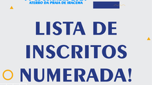 LISTA NUMERADA - CAMPEONATO CEARENSE DE AQUATHLON 2021