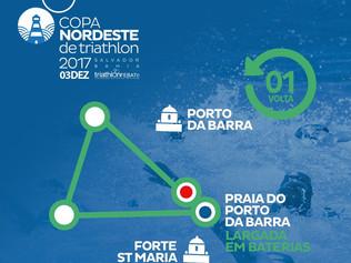 Percurso Copa Nordeste de Triathlon Sprint III Etapa -Bahia