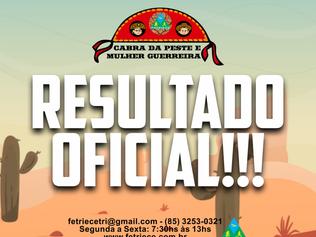 RESULTADO OFICIAL - CABRA DA PESTE E MULHER GUERRREIRA 2020
