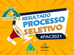 RESULTADO CANDIDATOS SELECIONADOS PARA 2ª FASE DO PROCESSO SELETIVO - PAC 2021