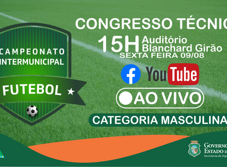 Congresso técnico do Campeonato Intermunicipal de Futebol