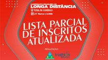 LISTA PARCIAL DE INSCRITOS - CAMPEONATO BRASILEIRO DE LONGA DISTÂNCIA