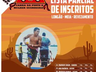 LISTA PARCIAL DE INSCRITOS - CABRA DA PESTE E MULHER GUERREIRA 2020. (LONGÃO - MEIA DIST. -REVEZAMEN