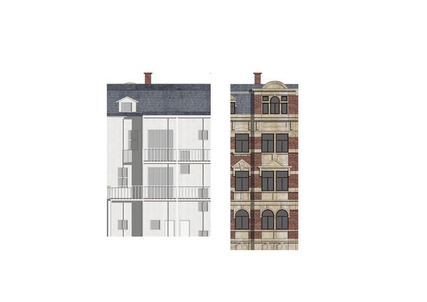 Ansicht Vorder- und Rückfassade