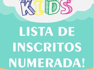 LISTA NUMERADA - CORRIDINHA KIDS 2021