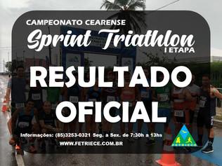 RESULTADO FINAL DO CAMPEONATO CEARENSE DE SPRINT TRIATHLON - I ETAPA