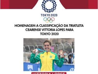 VITTORIA LOPES, PRIMEIRA CEARENSE CLASSIFICADA PARA  OLIMPÍADAS DE TOKYO - 2020
