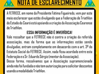 NOTA DE ESCLARECIMENTO - FETRIECE