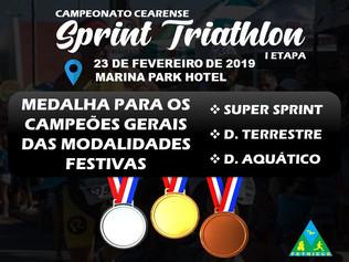 PREMIAÇÃO NAS PROVAS FESTIVAS NO CEARENSE DE SPRINT TRIATHLON - I ETAPA