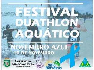INSCRIÇÕES ABERTAS - FESTIVAL DE DUATHLON AQUÁTICO - NOVEMBRO AZUL