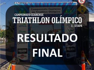 RESULTADO FINAL DO CAMPEONATO CEARENSE DE TRIATHLON OLÍMPICO I etapa