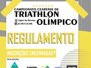 REGULAMENTO - CAMPEONATO CEARENSE DE TRIATHLON OLÍMPICO - 23/10/2021.