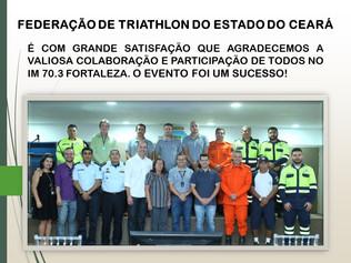 FETRIECE AGRADECE AOS APOIOS DO IRONMAN 70.3 FORTALEZA