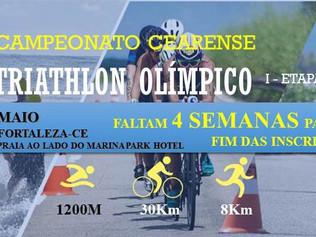 CAMPEONATO CEARENSE DE TRIATHLON OLÍMPICO - FALTAM 4 SEMANAS PARA O FIM DAS INSCRIÇÕES