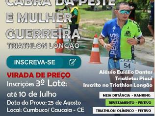 FALTA 01 DIA PARA VIRADA DE PREÇO DO TRIATHLON LONGÃO CABRA DA PESTE E MULHER GUERREIRA