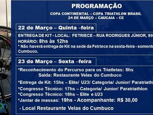 ENTREGA DE KIT CAMPEONATO CEARENSE DE SPRINT TRIATHLON - QUINTA DIA 22 NA FETRIECE