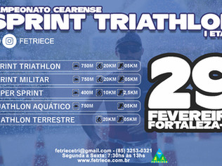 CAMPEONATO CEARENSE DE SPRINT TRIATHLON - I ETAPA | 29/02/2020 |