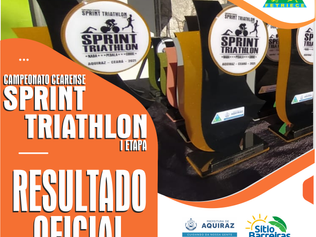 RESULTADO OFICIAL - CAMPEONATO CEARENSE DE SPRINT TRIATHLON I ETAPA 2021