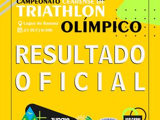 RESULTADO OFICIAL - CAMPEONATO CEARENSE DE TRIATHLON OLÍMPICO 2021 - ETAPA ÚNICA