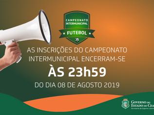 Encerram-se nesta quinta-feira (8) as inscrições para o Campeonato Intermunicipal de Futebol 2019