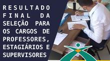 RESULTADO FINAL DA SELEÇÃO - PROJETO ATLETA CIDADÃO 2021