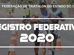 REGISTRO FEDERATIVO 2020 E CALENDÁRIO DE EVENTOS 2020