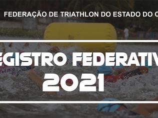 REGISTRO FEDERATIVO E CALENDÁRIO DE EVENTOS 2021.