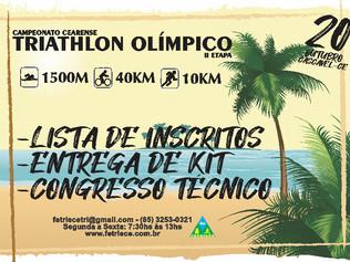 LISTA DE INSCRITOS, ENTREGA DE KIT E CONGRESSO TÉCNICO - CAMPEONATO DE TRIATHLON OLÍMPICO - II etapa