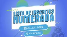 """LISTA DE INSCRITOS (NUMERADA) - """"CAMPEONATO CEARENSE DE SPRINT TRIATHLON 2021""""."""