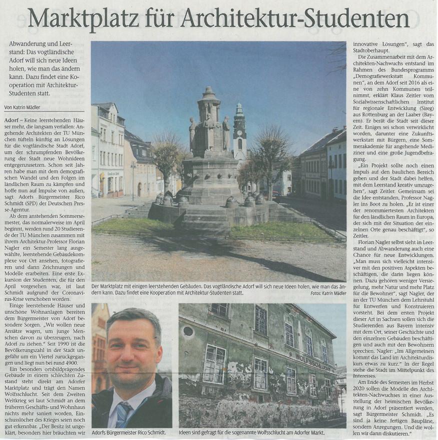 Vogtlandanzeiger, Vogtland, 30.03.2020