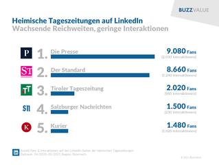 LinkedIn: Tageszeitungen mit wachsenden Reichweiten