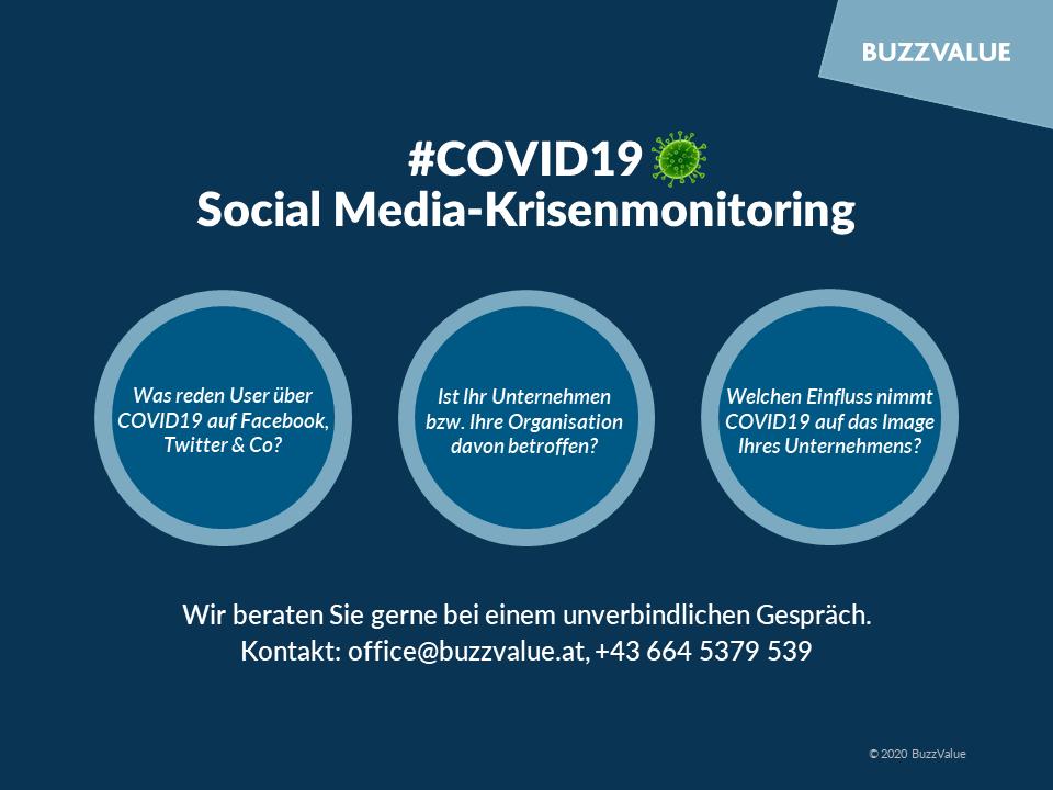 #COVID19: Social Media Krisenmonitoring