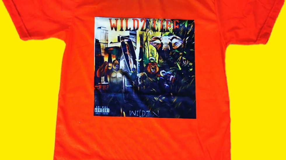 "WILDZ XL's ""Wildz Life"" album cover shirt"