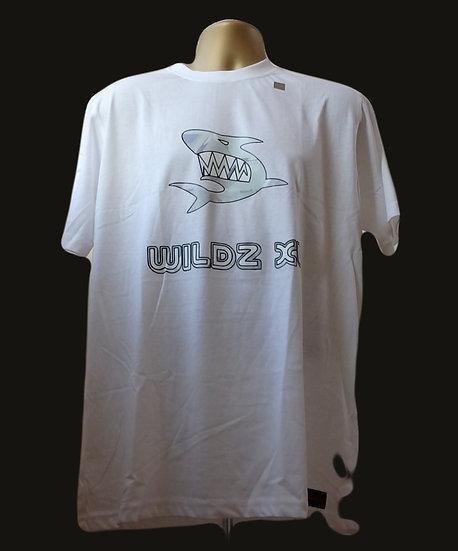 WILDZ XL Shark T-shirt White