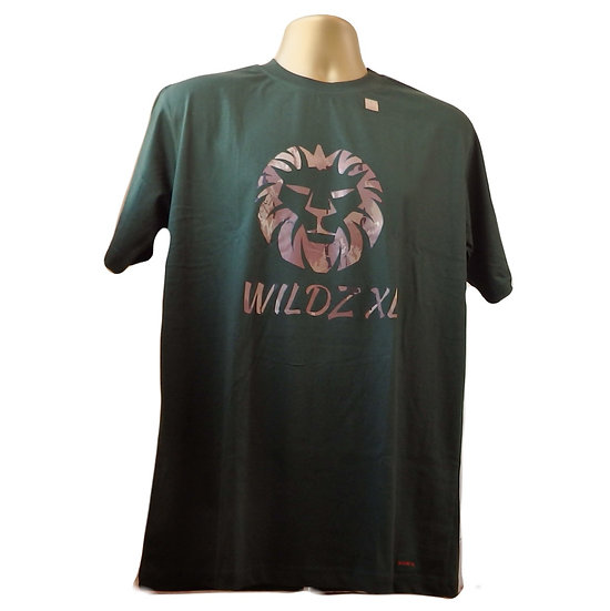 WILDZ XL Lion T-shirt Green