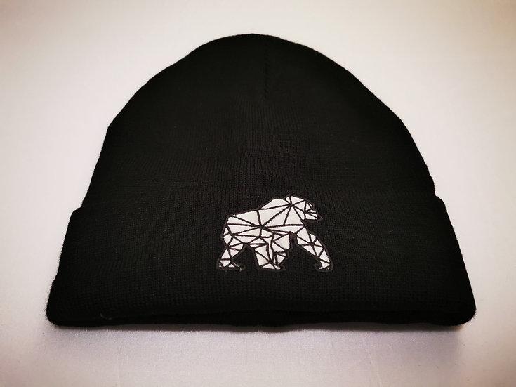 WILDZ XL Gorilla Embroidery beanie hat black