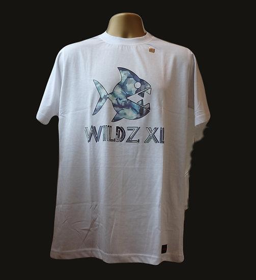 WILDZ XL Piranha T-shirt White