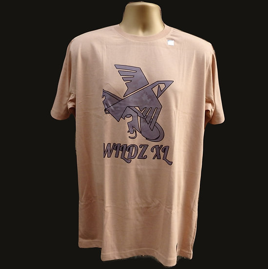 WILDZ XL Skateboarding Eagle T-shirt Beige
