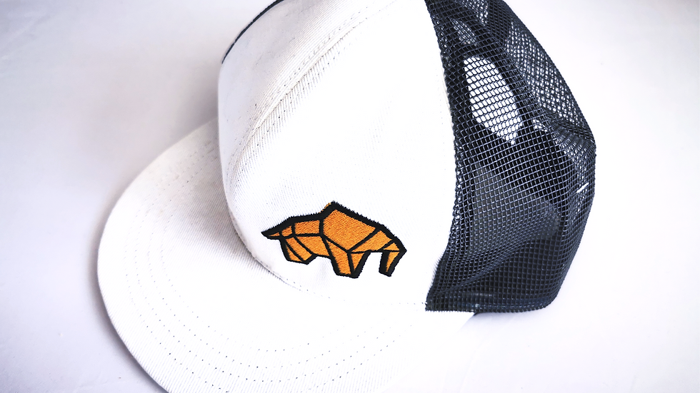 WILDZ XL Elephant White and grey mesh Snap-back cap