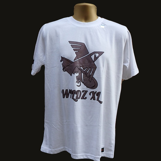 WILDZ XL Skateboarding Eagle T-shirt White